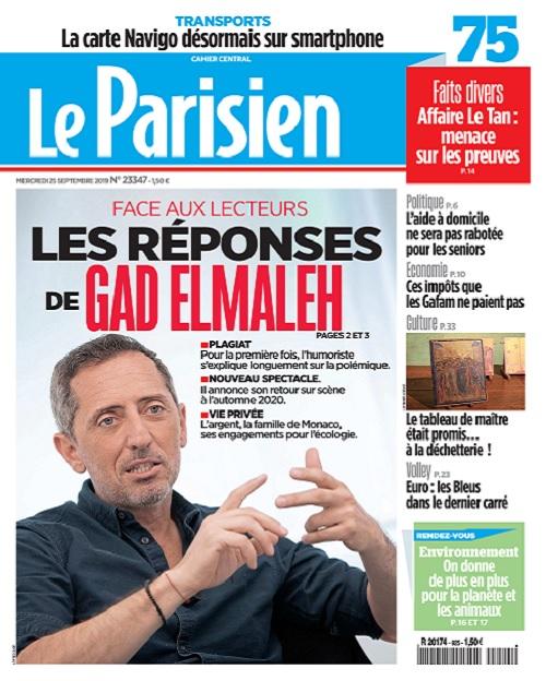 Le Parisien Du Mercredi 25 Septembre 2019