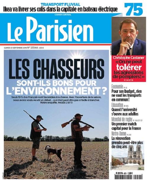 Le Parisien Du Samedi 21 Septembre 2019