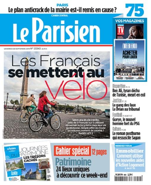 Le Parisien Du Vendredi 20 Septembre 2019