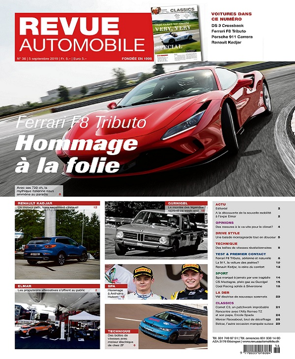 Revue Automobile N°36 Du 5 Septembre 2019