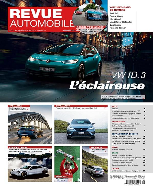 Revue Automobile N°37 Du 12 Septembre 2019