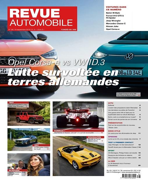 Revue Automobile N°38 Du 19 Septembre 2019