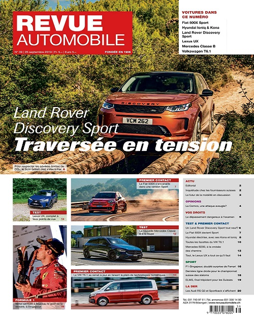 Revue Automobile N°39 Du 26 Septembre 2019