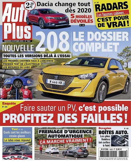Auto Plus N°1622 Du 4 au 10 Octobre 2019