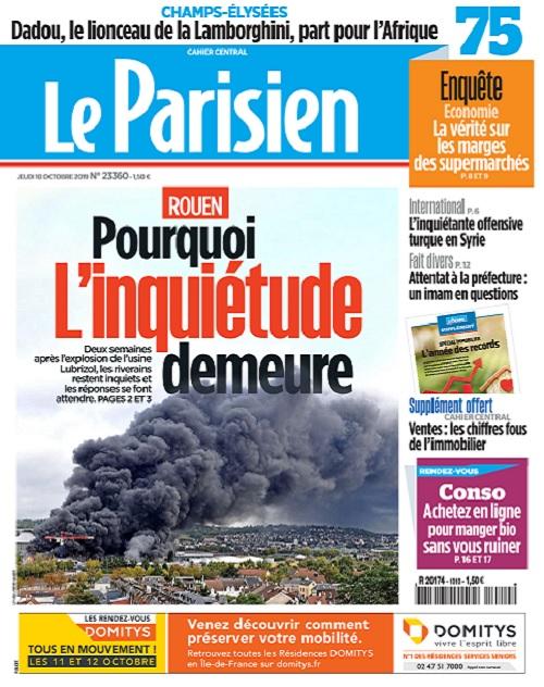 Le Parisien Du Jeudi 10 Octobre 2019