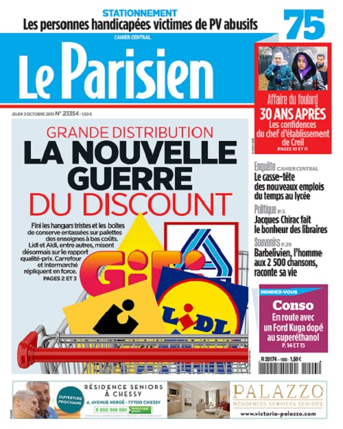 Le Parisien Du Jeudi 3 Octobre 2019
