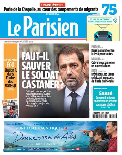 Le Parisien Du Lundi 7 Octobre 2019