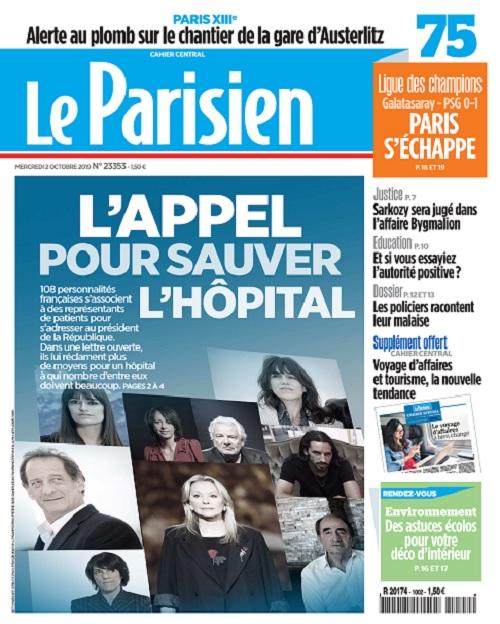 Le Parisien Du Mercredi 2 Octobre 2019