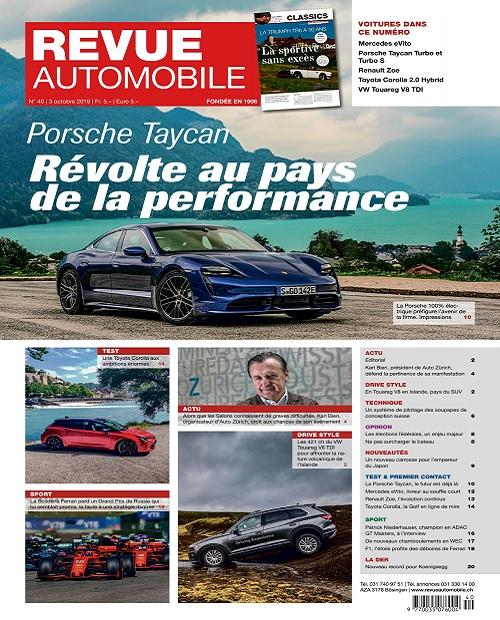 Revue Automobile N°40 Du 3 Octobre 2019
