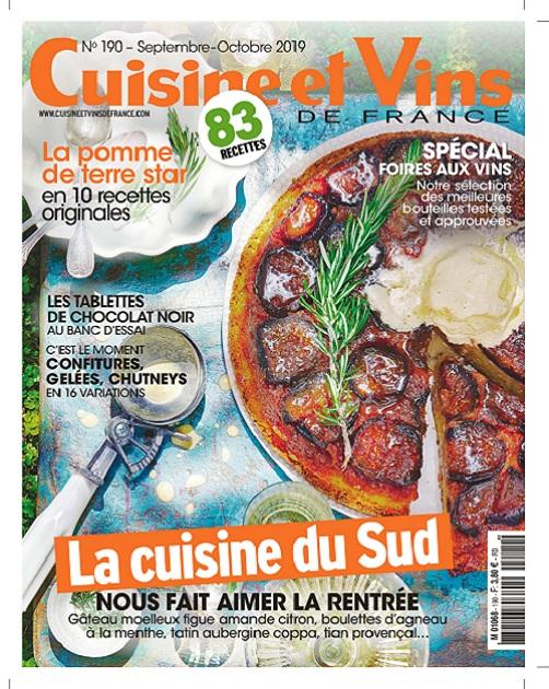 Cuisine et Vins De France N°190 – Septembre-Octobre 2019