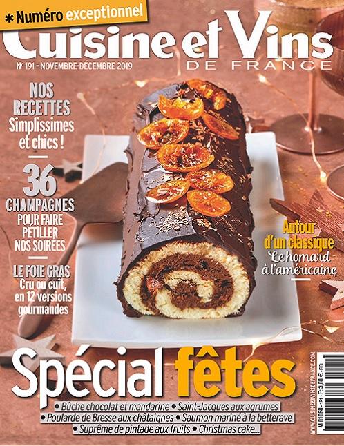 Cuisine et Vins De France N°191 – Novembre-Décembre 2019