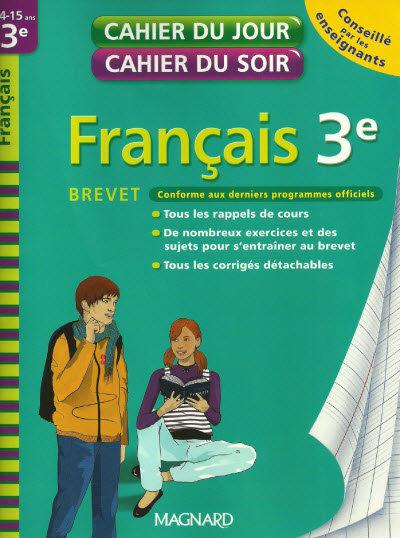 Cahier du jour cahier du soir-Français 3e Brevet