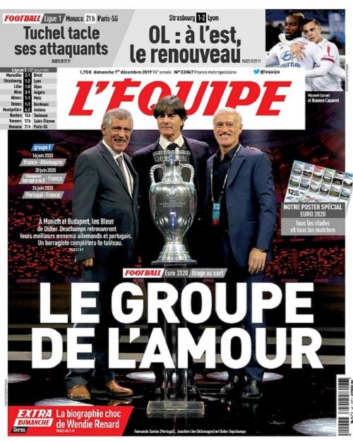 L'Equipe Du Dimanche 1er Décembre 2019