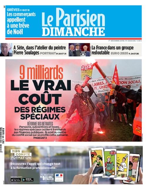 Le Parisien Du Dimanche 1er Décembre 2019