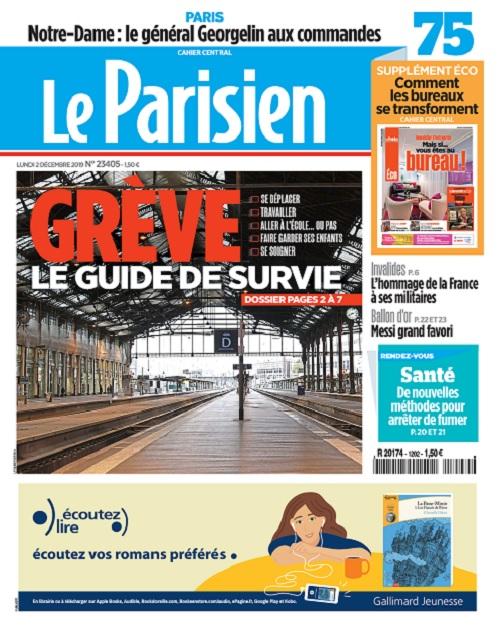 Le Parisien Du Lundi 2 Décembre 2019