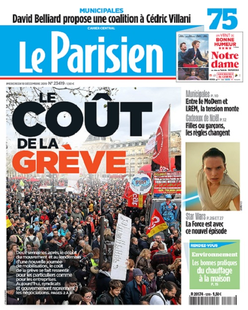 Le Parisien Du Mercredi 18 Décembre 2019