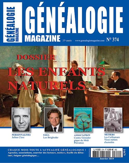 Généalogie Magazine N°374 – Janvier 2019