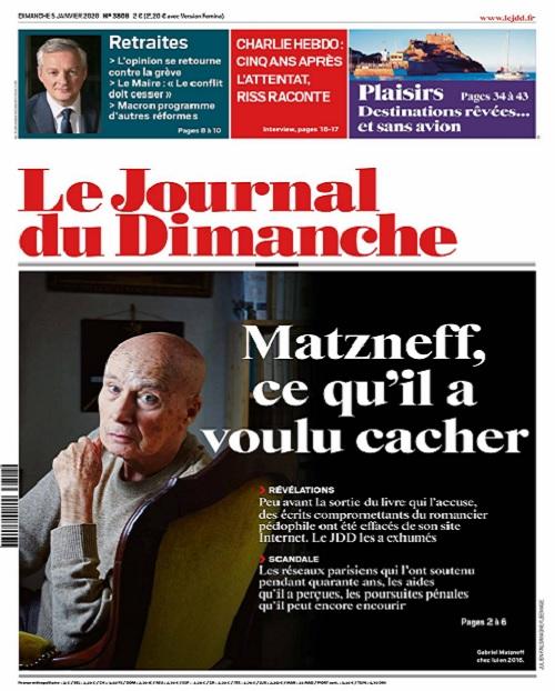 Le Journal Du Dimanche N°3808 Du 5 Janvier 2020