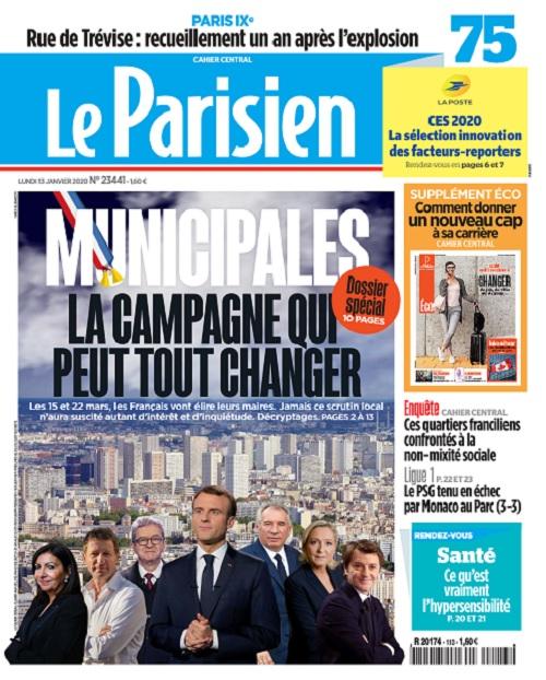 Le Parisien Du Lundi 13 Janvier 2020