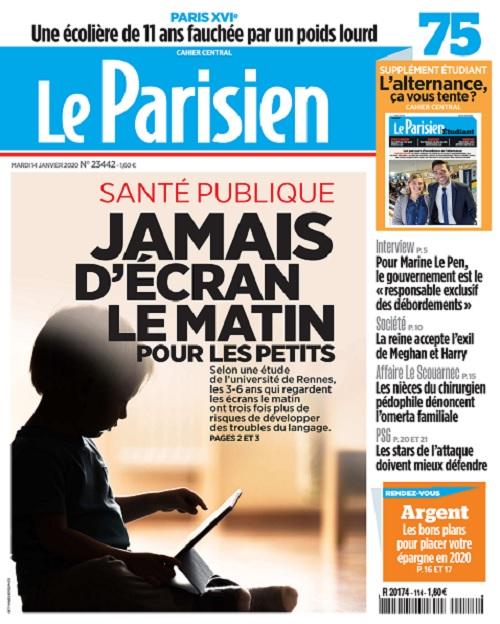 Le Parisien Du Mardi 14 Janvier 2020