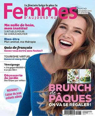 Femmes D'Aujourd'hui N°15 Du 9 Avril 2020