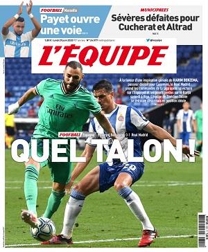 L'Equipe Du Lundi 29 Juin 2020