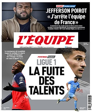 L'Equipe Du Lundi 8 Juin 2020