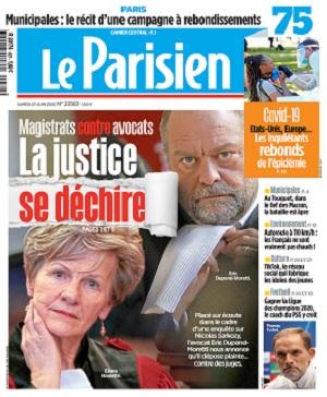 Le Parisien Du Samedi 27 Juin 2020