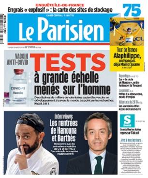 Le Parisien Du Lundi 31 Août 2020