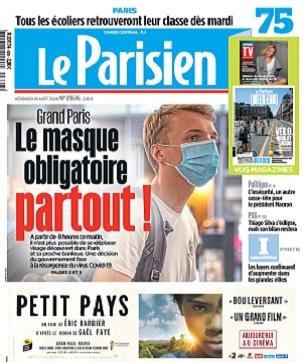 Le Parisien Du Vendredi 28 Août 2020