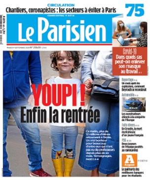 Le Parisien Du Mardi 1er Septembre 2020