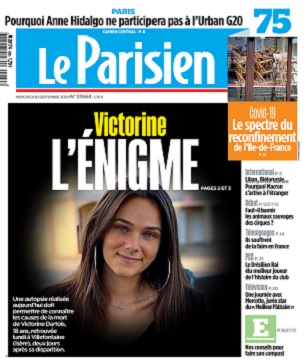 Le Parisien Du Mercredi 30 Septembre 2020