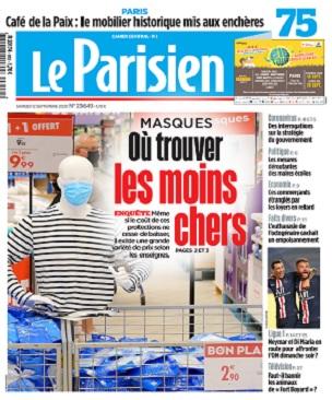 Le Parisien Du Samedi 12 Septembre 2020