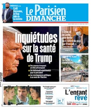 Le Parisien Du Dimanche 4 Octobre 2020