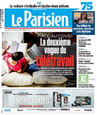 Le Parisien Du Mercredi 7 Octobre 2020