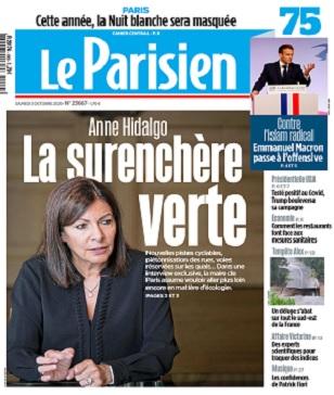 Le Parisien Du Samedi 3 Octobre 2020