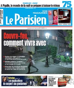 Le Parisien Du Vendredi 16 Octobre 2020