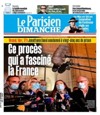 Le Parisien Du Dimanche 22 Novembre 2020