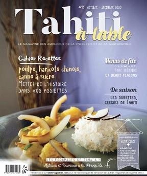 Tahiti à Table N°15 – Octobre-Décembre 2020
