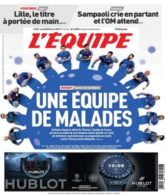 L'Equipe Du Mardi 23 Février 2021