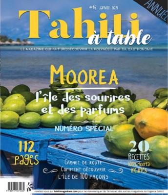 Tahiti à Table N°16 – Janvier 2021