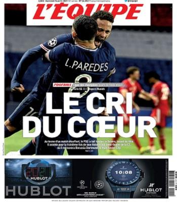 L'Equipe Du Mercredi 14 Avril 2021