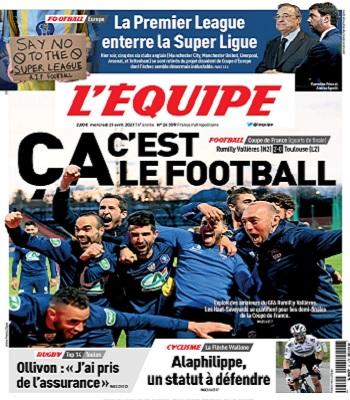 L'Equipe Du Mercredi 21 Avril 2021