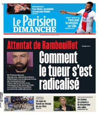 Le Parisien Du Dimanche 25 Avril 2021