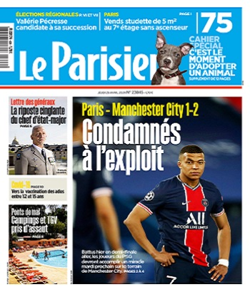 Le Parisien Du Jeudi 29 Avril 2021
