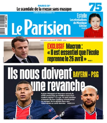 Le Parisien Du Mercredi 7 Avril 2021
