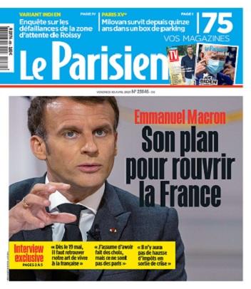 Le Parisien Du Vendredi 30 Avril 2021