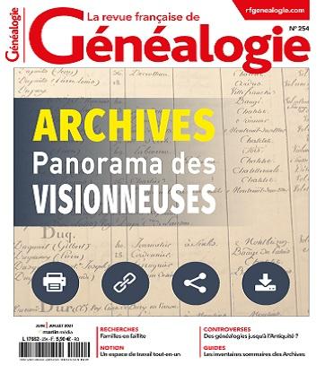 La Revue Française De Généalogie N°254 – Juin-Juillet 2021