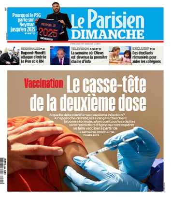 Le Parisien Du Dimanche 9 Mai 2021