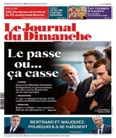 Le Journal Du Dimanche N°3888 Du 18 Juillet 2021